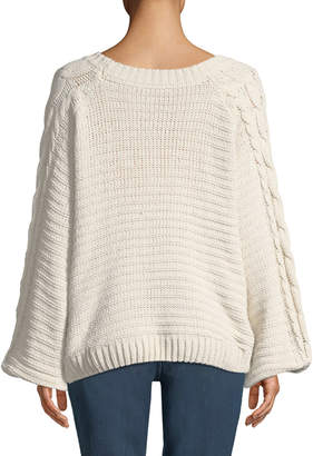 Dex Cable Knit Long-Sleeve Sweater