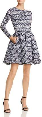 Maje Royaume Geo-Print Fit-and-Flare Dress - 100% Exclusive