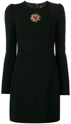 Dolce & Gabbana logo long-sleeve mini dress