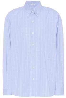 Miu Miu Plaid cotton shirt