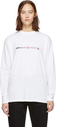 Alexander Wang White Logo Long Sleeve T-Shirt