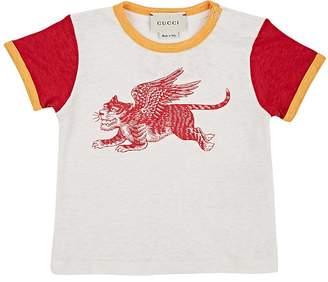 Gucci Infants' Lion-Print Linen T-Shirt