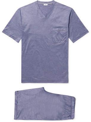 48c0fd39cb Zimmerli Cotton-Pique Pyjama Set - Men - Blue