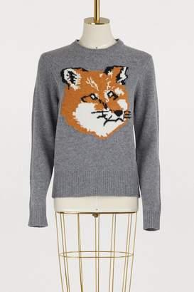 MAISON KITSUNÉ Wool fox head sweater