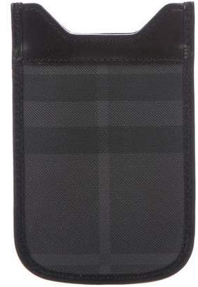 Burberry Smoked Check iPhone Sleeve