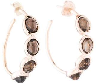 Ippolita Rosé Smoky Quartz Hoop Earrings