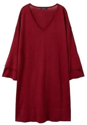 Violeta BY MANGO Wool-blend ponte dress