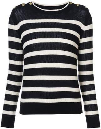 Vanessa Bruno buttoned shoulders striped jumper