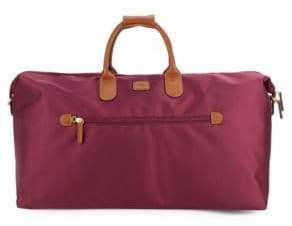 """Bric's 22"""" Leather-Trim Carry-On Duffel Bag"""