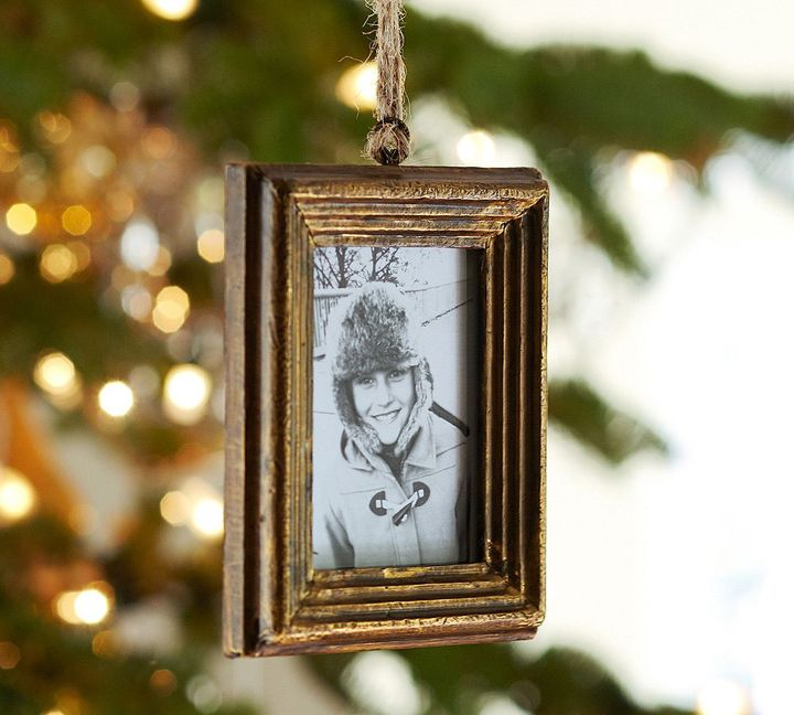Pottery Barn Gold Frame Ornament