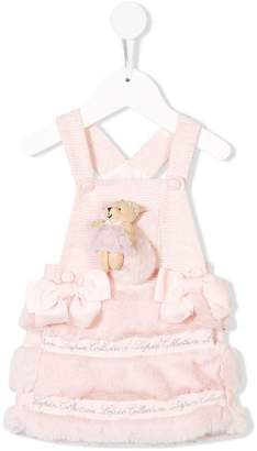 Lapin House Teddy pinafore dress