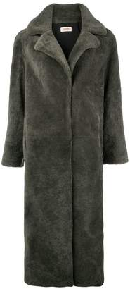 Yves Salomon Meteo long fur coat
