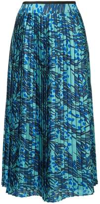 Victoria Beckham Victoria printed pleated skirt