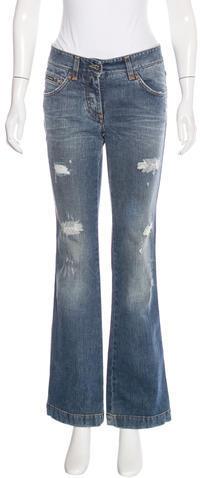 Dolce & GabbanaDolce & Gabbana Distressed Flared Jeans