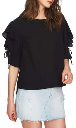 1 STATE 1.STATE Ruffle Tie Sleeve Blouse