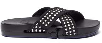 Figs By Figueroa 'Figomatic' polka dot cross strap slide sandals