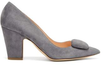 Rupert Sanderson Pierrot Suede Pumps - Womens - Light Grey