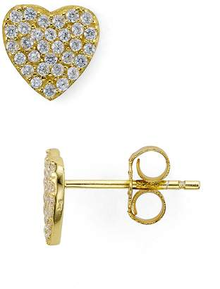 Aqua Sterling Silver Heart Stud Earrings - 100% Exclusive