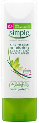 Simple Kind to Eyes Nourishing Eye Make Up Remover Cream (100ml) - Pack of 6