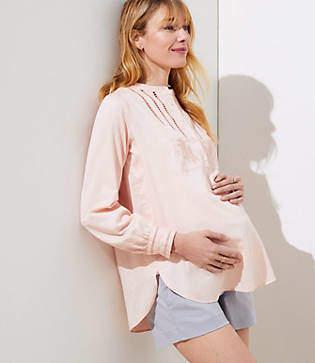 LOFT Maternity Riviera Shorts with 4 Inch Inseam