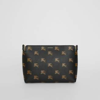 Burberry Medium Equestrian Knight Leather Clutch