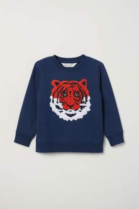 H&M Sweatshirt with Applique - Blue