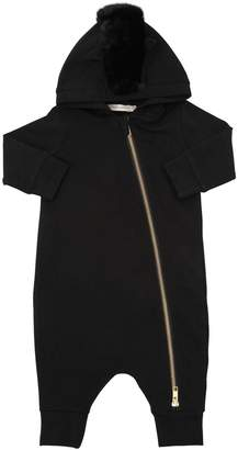 Hooded Cotton Sweatshirt Romper