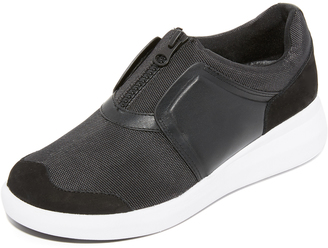 DKNY Taylor Zip On Sneakers $178 thestylecure.com