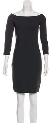 The Row Mini Off-The-Shoulder Dress