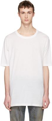 Faith Connexion White Oversized Distressed T-Shirt $140 thestylecure.com