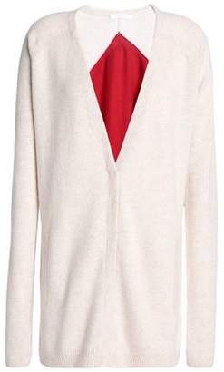 Duffy Two-Tone Cashmere Cardigan