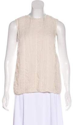 Brunello Cucinelli Silk Sleeveless Top
