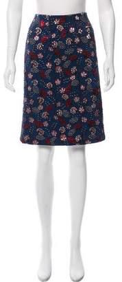 Rochas Brocade Knee-Length Skirt