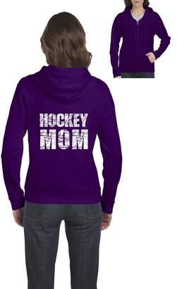 Ugo Hockey Mom Match with Leggings Yoga Pants Hockey Stick Full-Zip Women's Hoodie