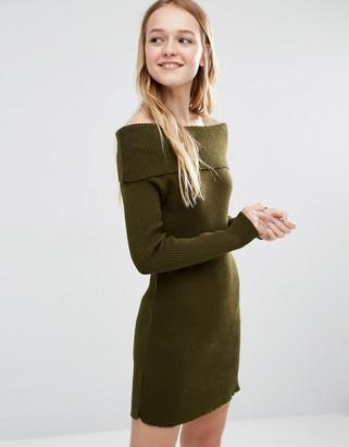 Daisy Street Off Shoulder Sweater Dress $38 thestylecure.com