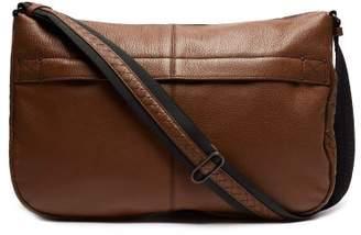 3ee3c6a204 Bottega Veneta Weekend Grained Leather Messenger Bag - Mens - Brown