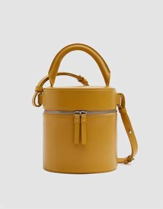 Building Block Drum Shoulder Bag in Mustard