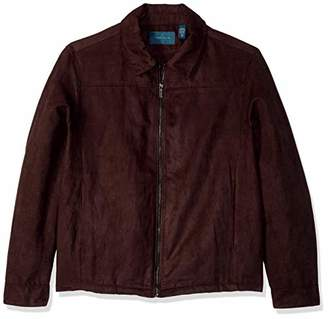 Perry Ellis Men's Big and Tall Faux Suede Shirt Jacket