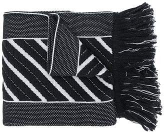 Off-White chunky medium striped scarf