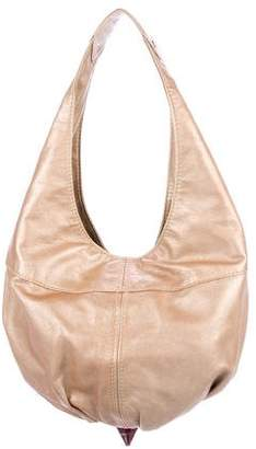 Jimmy Choo Metallic Leather Hobo