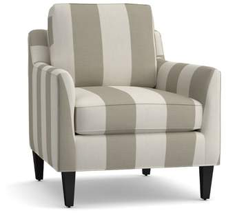 Pottery Barn Beverly Upholstered Armchair - Print and Pattern