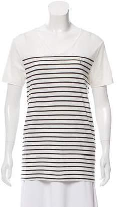 AllSaints Striped Short Sleeve T Shirt
