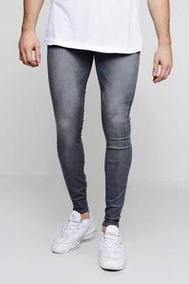 boohoo Super Skinny Grey Denim Jeans