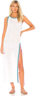 Pitusa Tassel Slit Dress