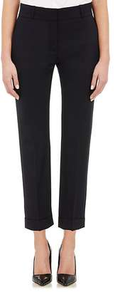 Barneys New York Women's Suiting Twill Crop Trousers-NAVY $425 thestylecure.com