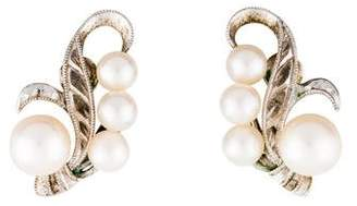 Mikimoto Pearl Clip-On Earrings