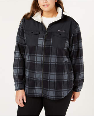 Columbia Plus Size Benton Springs Plaid Fleece Jacket