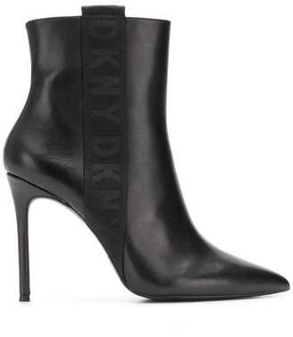 DKNY (ディー ケー エヌワイ) - DKNY logo trim ankle boots