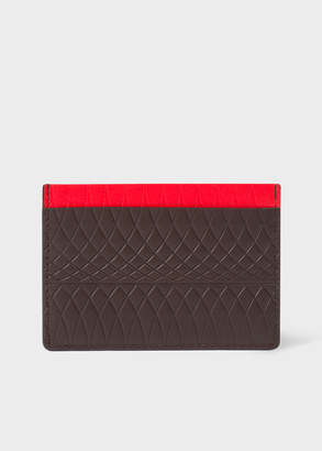 Paul Smith No.9 - Chocolate Brown Leather Card Holder With Multi-Coloured Card Slots