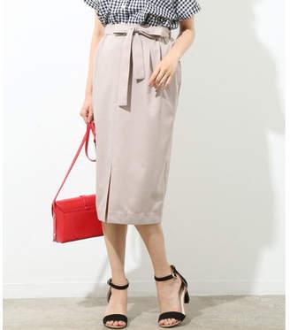 ViS (ビス) - ViS リボン付き前スリットタイトスカート